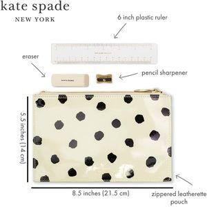 Kate Spade stationery pencil ruler kit sharpener